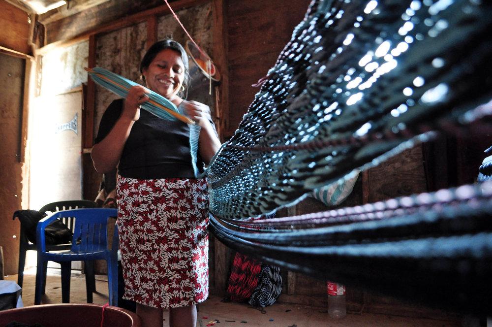 Hammock making, Mexico.