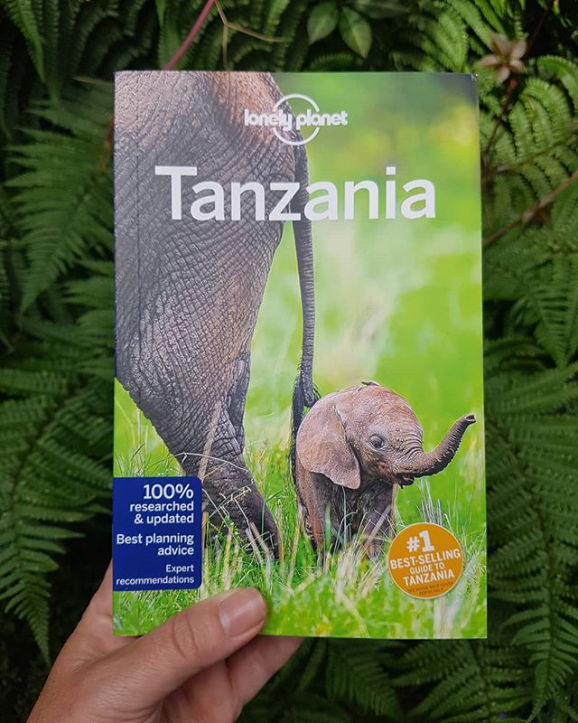 So happy to see this little elephant, and the @lonelyplanet guide to #Tanzania which I helped update last year.  #Africa #mylonelyplanet
