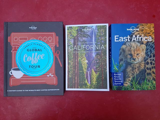 New arrivals from @lonelyplanet - some lovely titles I worked on last year in #london, #california and #tanzania.