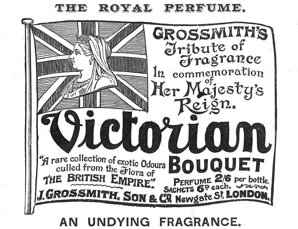 Advertisement for Victorian Bouquet, 1897