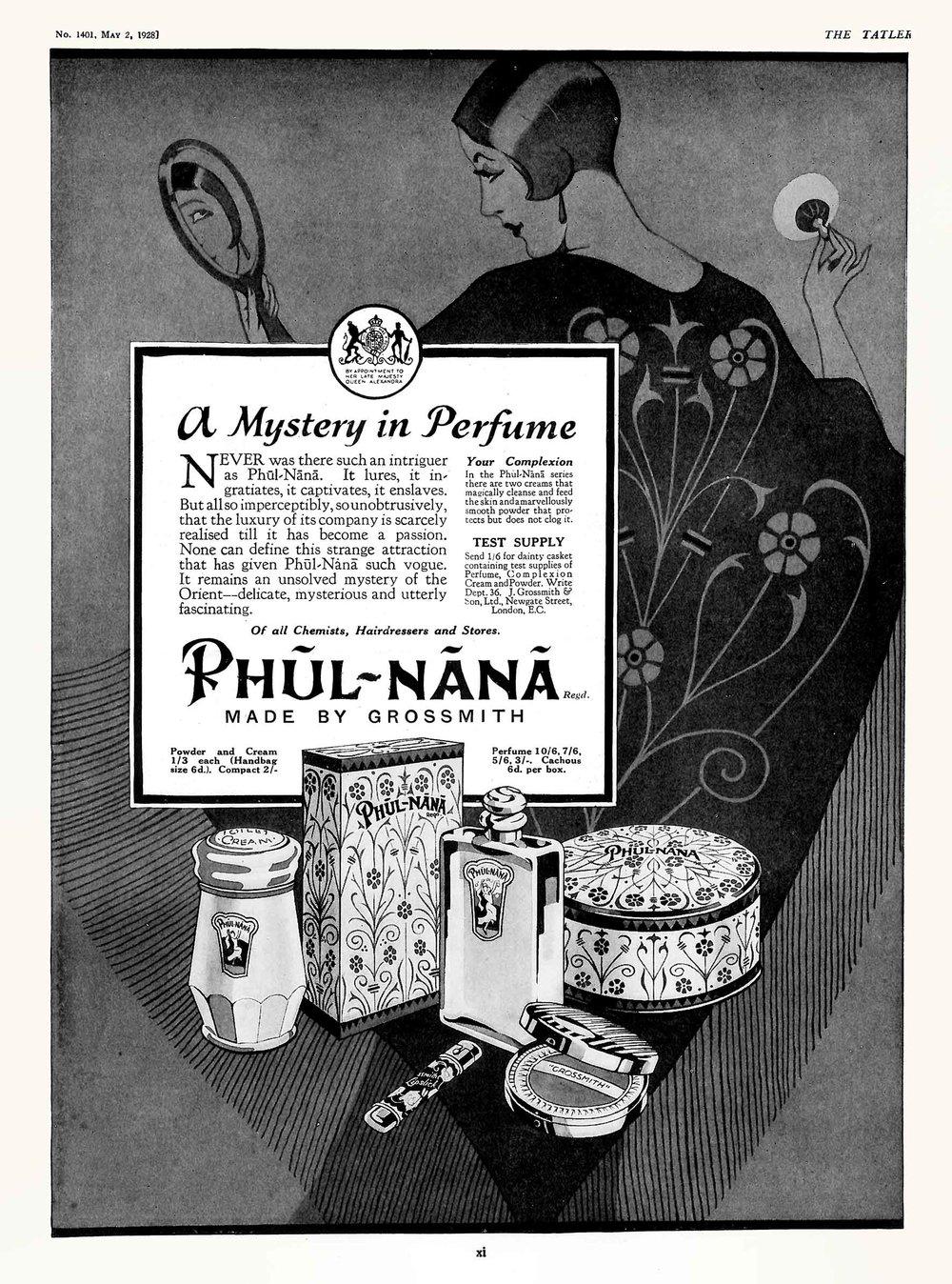 Grossmith - Phul-Nana Advert - The Tatler - 2 May 1928.jpg