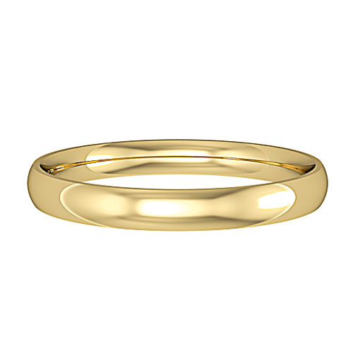 Court -  This is the most traditional wedding band and the most comfortable, curved inside and outside it's sits nicely next to any engagement ring. Available in Yellow, White and Rose Gold (9ct and 18ct) Palladium, Platinum and Titanium. In any width.