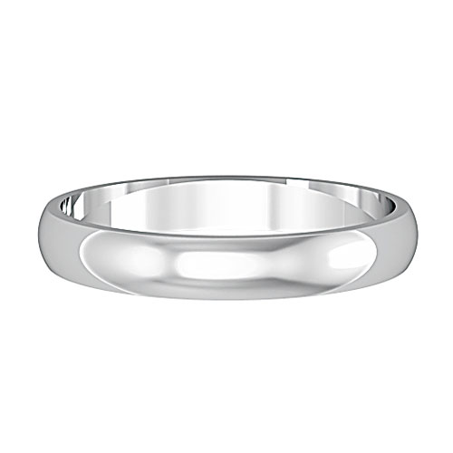 D-Shape -  Again a very traditional style, sitting slightly shallower on the finger than the court. Flat on the inside and curved on the outer.Available in Yellow, White and Rose Gold (9ct and 18ct) Palladium, Platinum and Titanium. In any width.