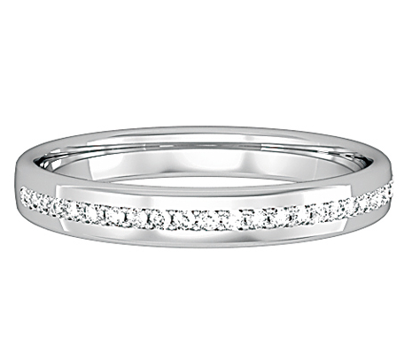 Elizabeth  This Classic Half Eternity Style 3mm Wedding Band, slots perfectly underneath most engagement rings.  Available in a Full Eternity (please call for details)