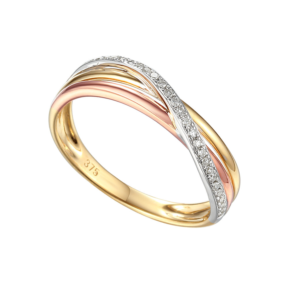 louisa  A three colour diamond set twist, looks perfect with on its own or with an engagement ring that needs a curved wedding ring. Available in full white, yellow or rose.