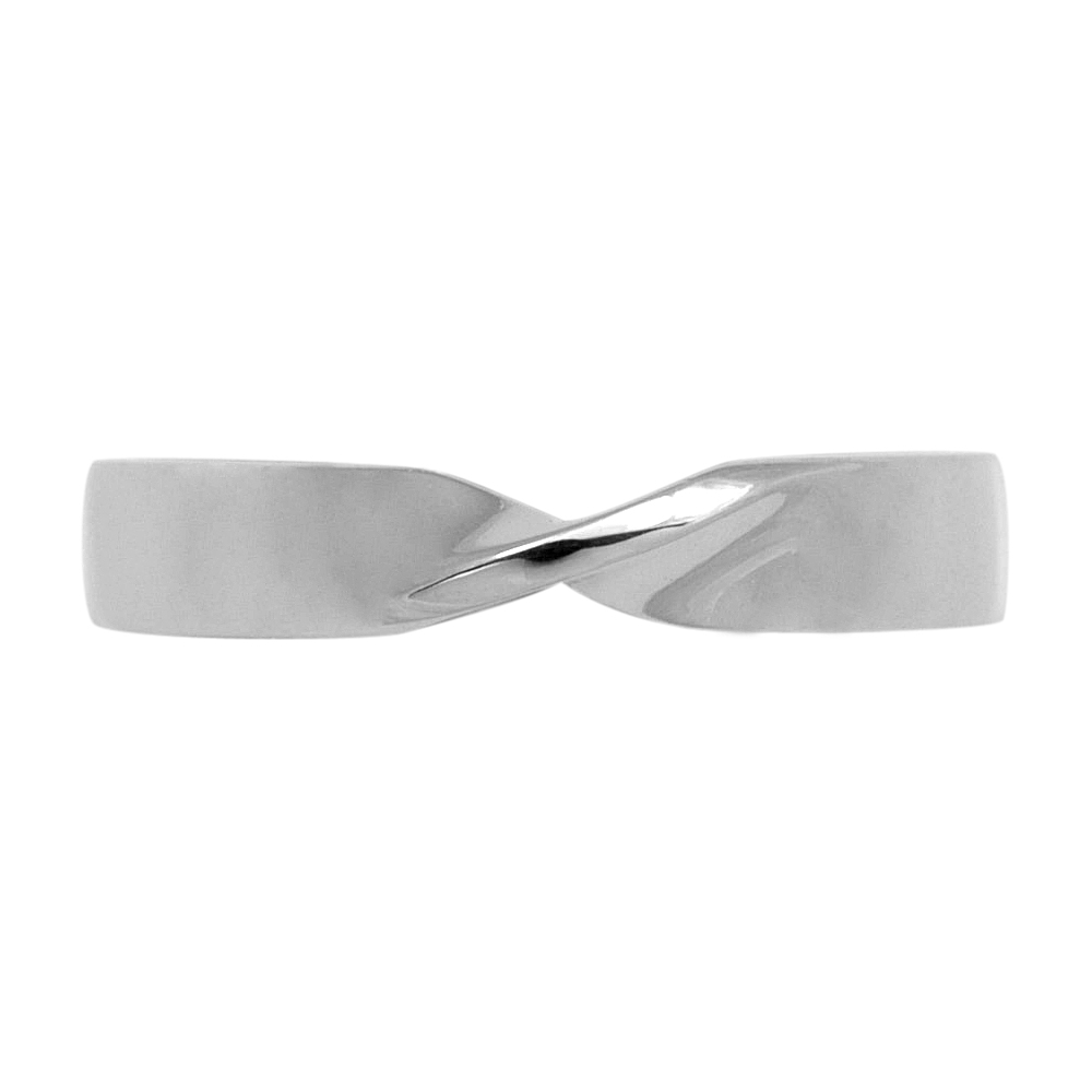 Daisy  A Fitted Twisted Wedding Ring, in a Shallow Court profile twisted to create this simple but elegant design, made to order.