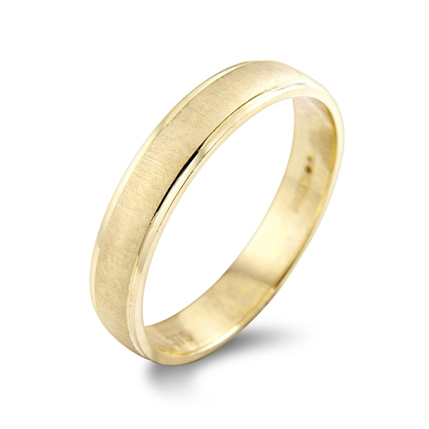 Aster    The Aster is a simple shallow court wedding ring, with a brushed centre and polished edges. Coming in a range of colours, metals and widths. Perfect as a stand alone ring or to slot under an engagement ring.