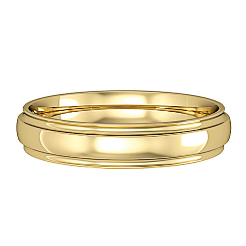 groove  A Simple Court Wedding Ring, with groove detail to the edge. Made to order in a number of different colours, widths and metals.
