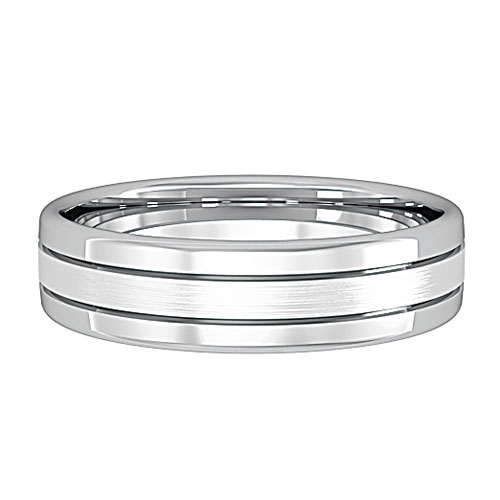 track  A Simple Bombe Court Wedding Ring, with two track edges and a centre centre. Made to order in a number of different colours, widths and metals.