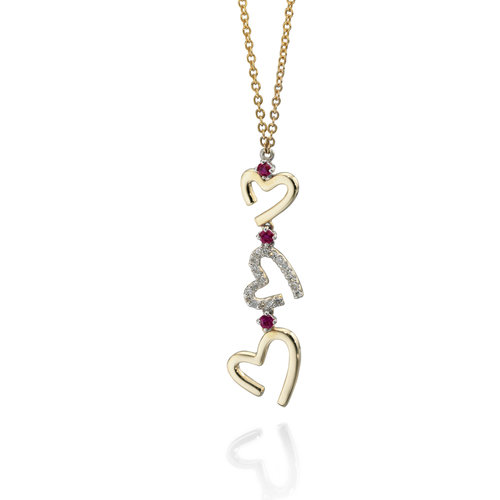 Contour diamond and ruby heart pendant hallmark contour diamond and ruby heart pendant aloadofball Image collections