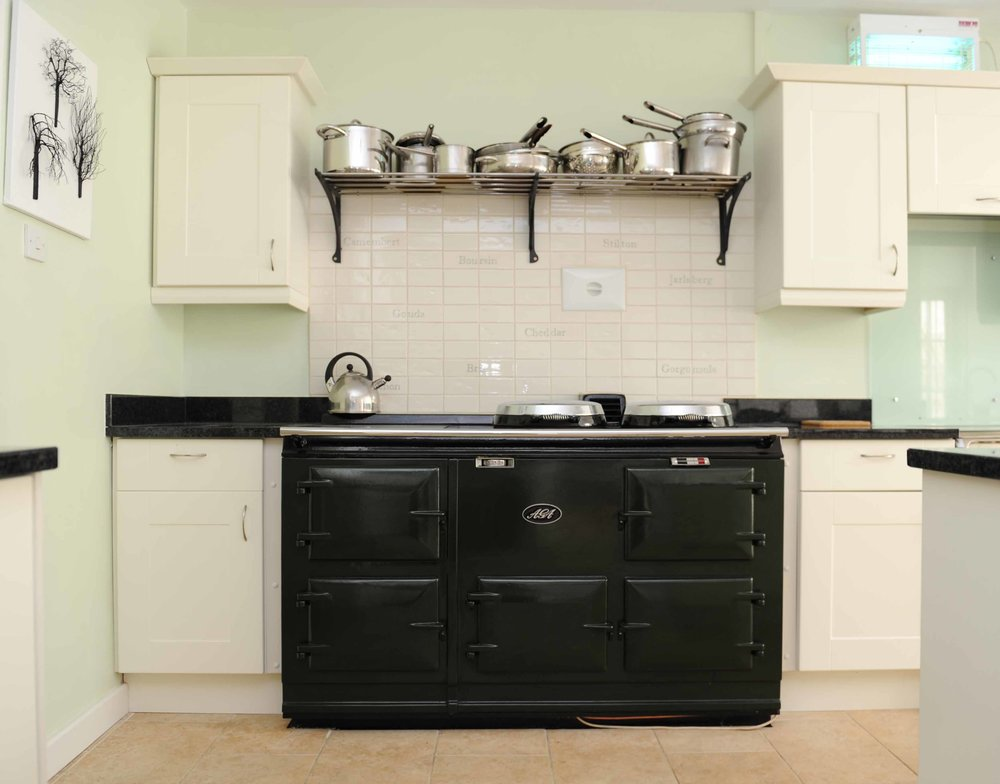 There is an Aga and also an electric oven. The kitchen has two dishwashers, for less washing up hassle.