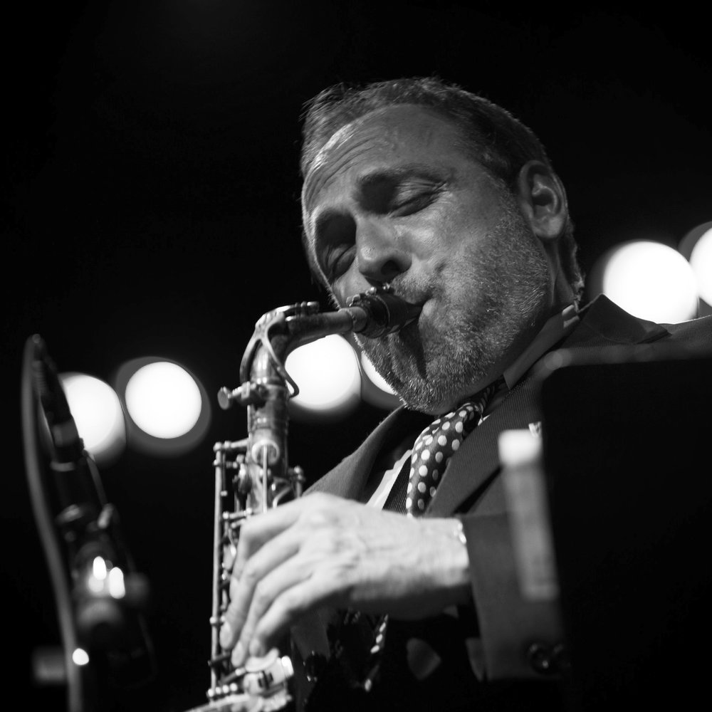 Saxophonist Billy Cofrances