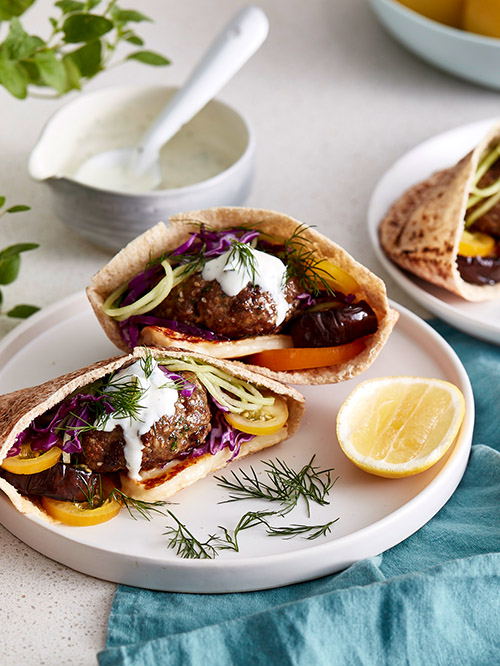 SPICED LAMB PITA POCKETS WITH CHARRED EGGPLANT AND FRESH HERBS.jpg
