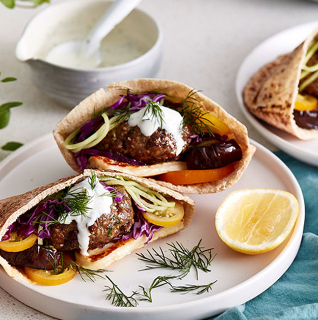 SPICED LAMB PITA POCKETS WITH CHARRED EGGPLANT AND FRESH HERBS_thumb.jpg
