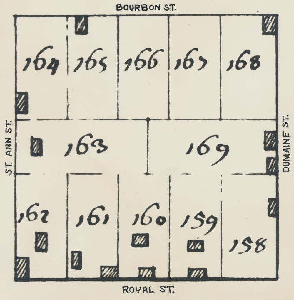 Plan de la Nouvelle Orleans (detail: Square 58)