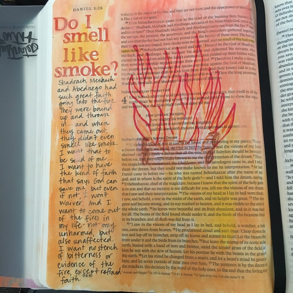 Same idea as the page I started with in my study Bible, but with more room for journaling.