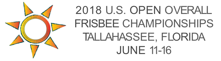 2018 U.S. Open Overall Frisbee Championships Tallahassee, Florida, June 11-17