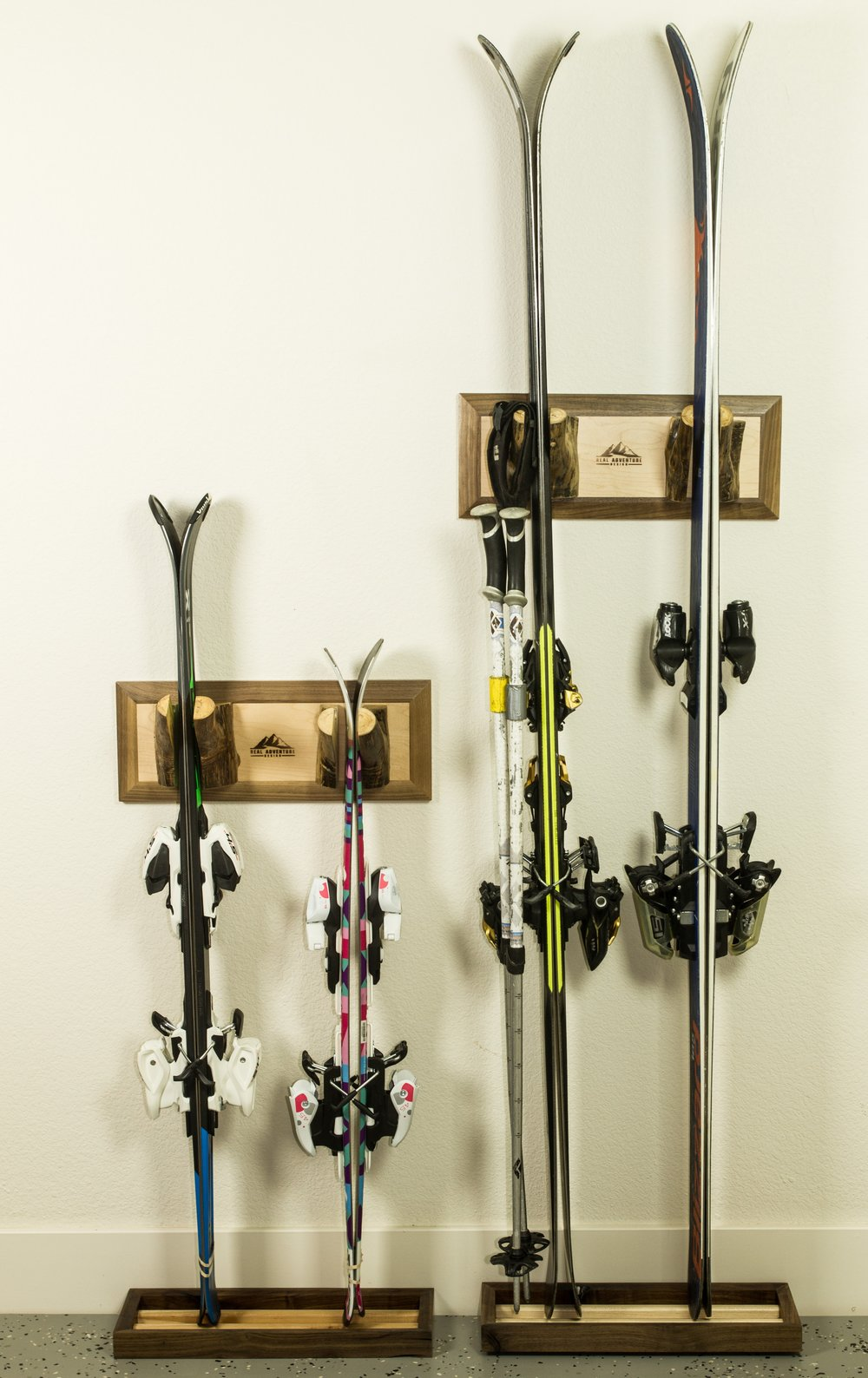 For kids skis, mount one rack lower and move it up as they grow.