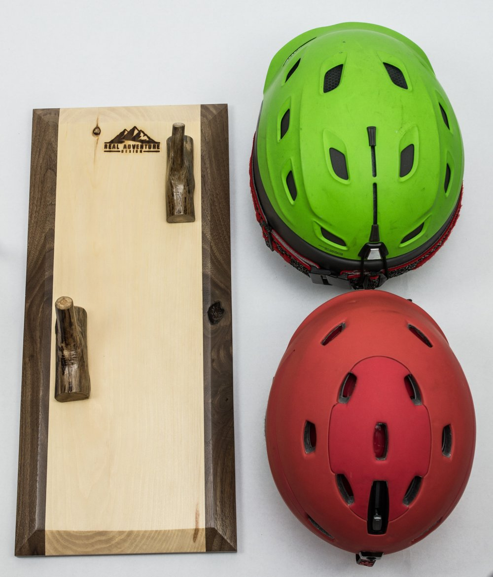Fish Creek 2   Rustic Helmet Rack