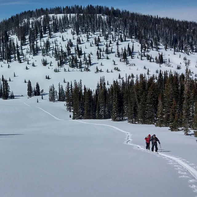 Recipe for happiness: ⠀ 1. Find pow field.⠀ 2. Bring your parents.⠀ 3. Listen to their whoops as they shred.⠀ .⠀ .⠀ .⠀ #realadventuredesign #familyfun #skiing #winter #backcountry