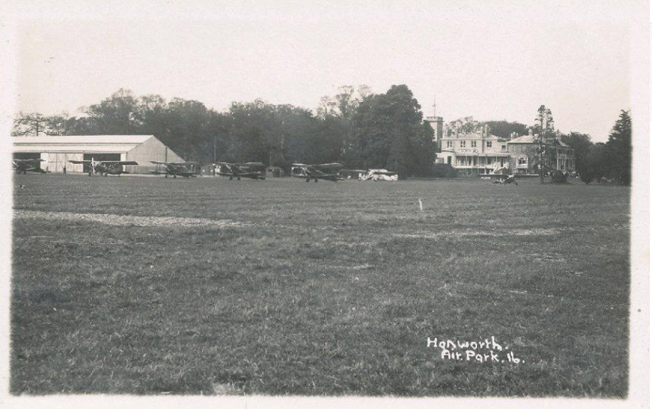 A postcard of Hanworth Air Park, and Hanworth Park House in the 1930's. From Ebay.