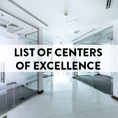 List of Centers of Excellence