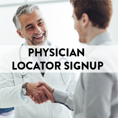 Physician Locator Signup