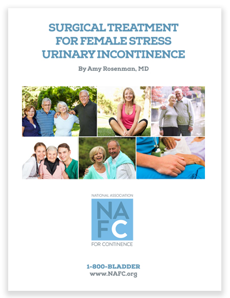 Click here to download your free brochure on surgical options for women with stress urinary incontinence.
