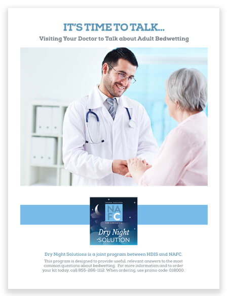 It's Time To Talk To Your Doctor About Adult Bedwetting Brochure