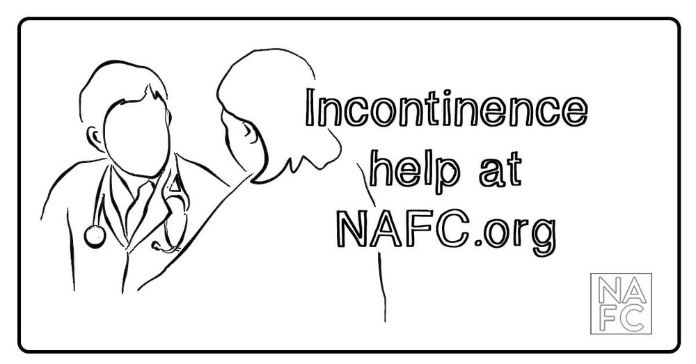 Incontinence can be hard to deal with. But we can help. Learn more at nafc.org. #BHealth