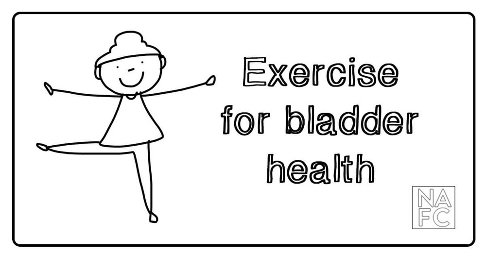 Exercise is good for your body, and your bladder. Learn more about how to improve incontinence symptoms with diet and exercise at nafc.org