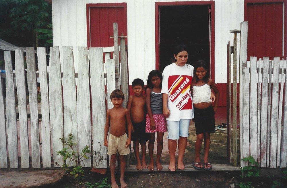 Amazon village, 2001