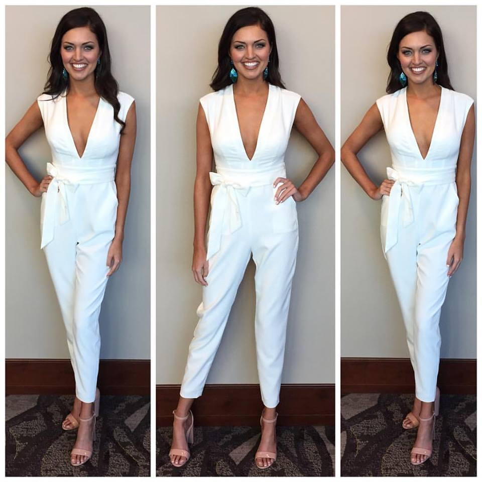 Interview outfit: bebe jumpsuit, earrings from Angel Studios and shoes from Steve Madden