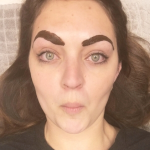 too sexy for my brows. kidding! this is the coloring part