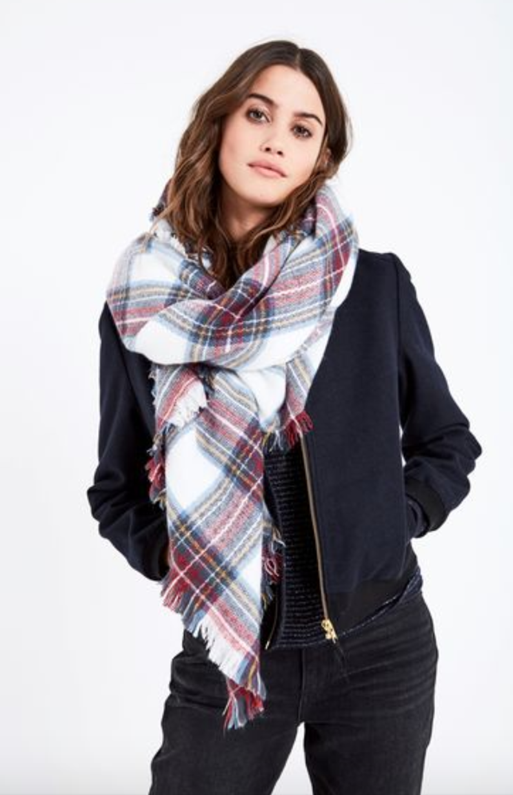 Jack Wills Check Blanket Scarf
