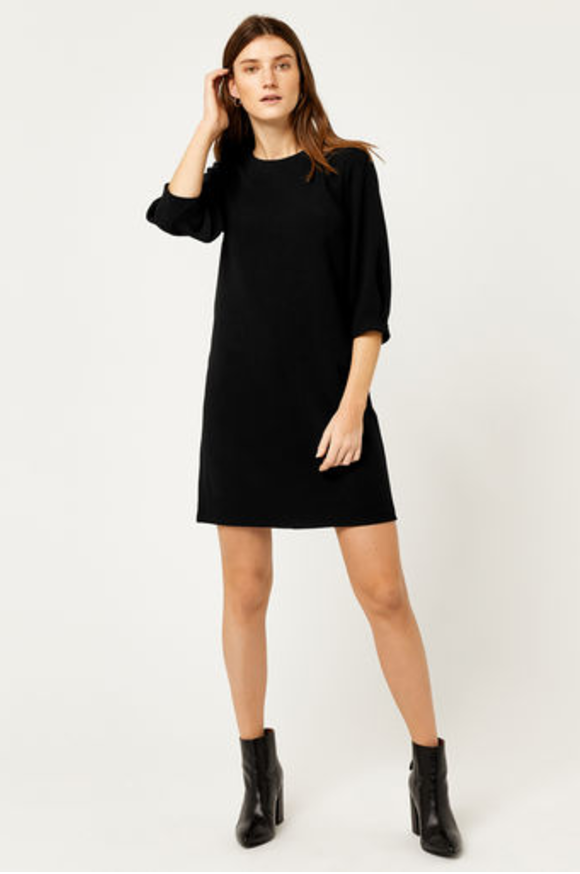 11. Black Crepe Dress.