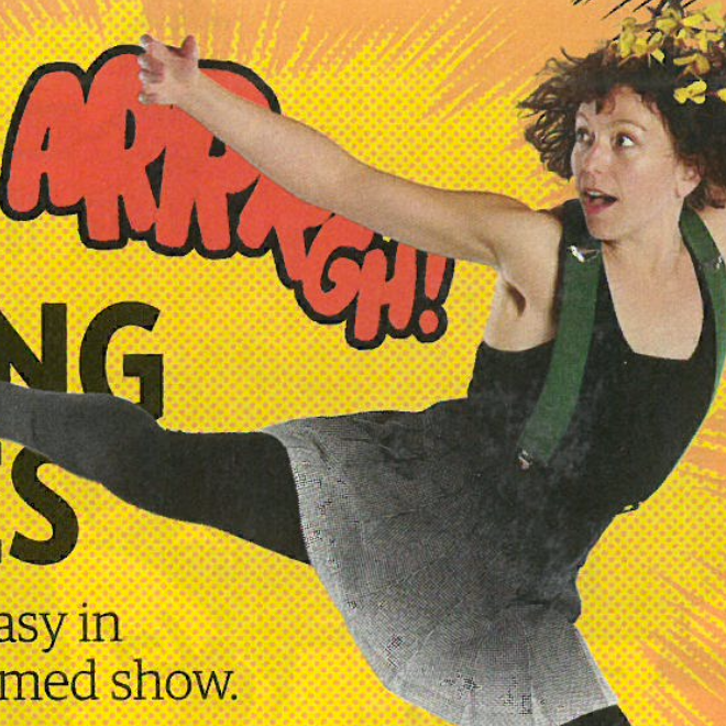 """Saving the World isn't Easy in Lucky Plush's Superhero-themed Show""  –Chicago Magazine"