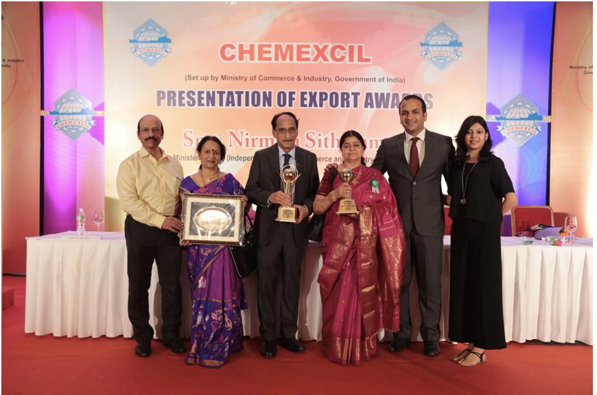 2011-12, 2013-14, 2014-15 Chemexcil Award