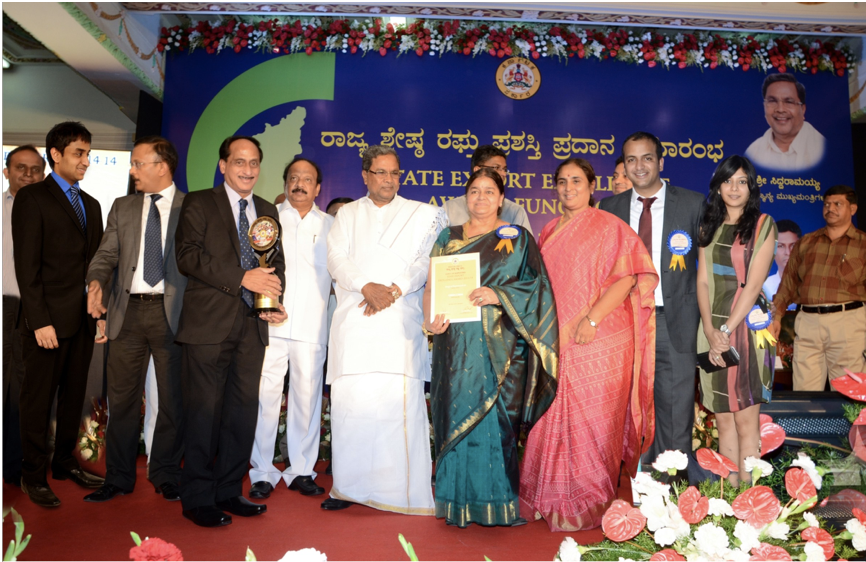 2013-14 Karnataka State Export Excellence Gold Award