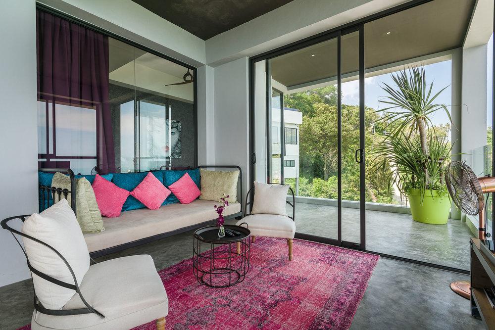 Design sofa and terrace