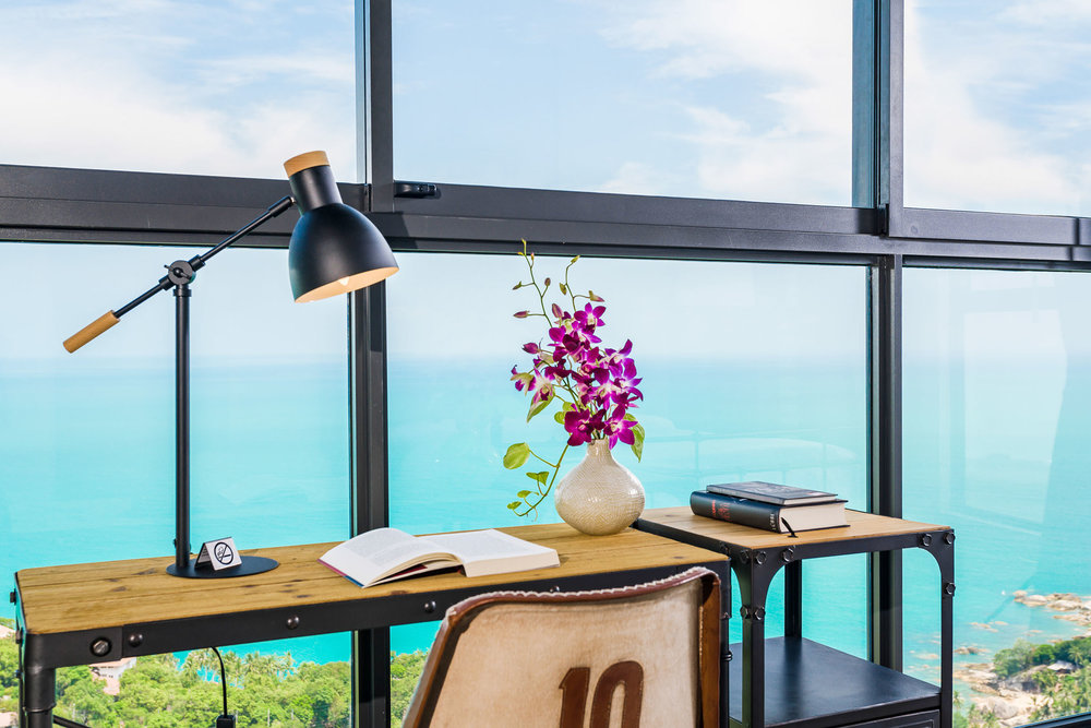 Desk with sea view