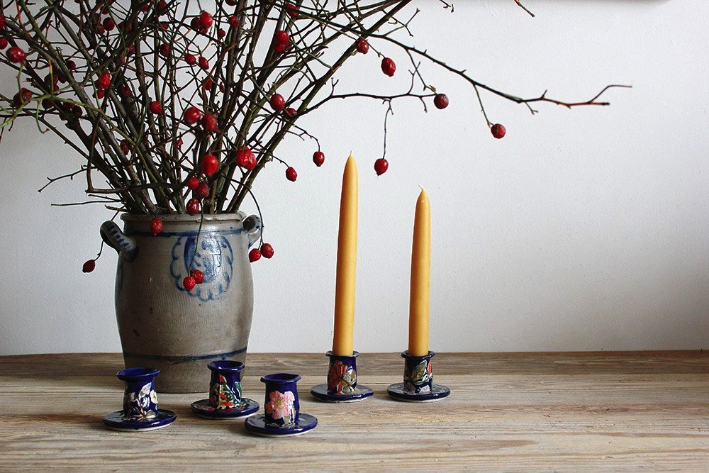1. REBEKAH MILES CANDLE STICKS - I've been a big fan of Rebekah Miles ceramic pieces this year. These hand-painted candle sticks are the perfect holiday gift to add to your home.—$120