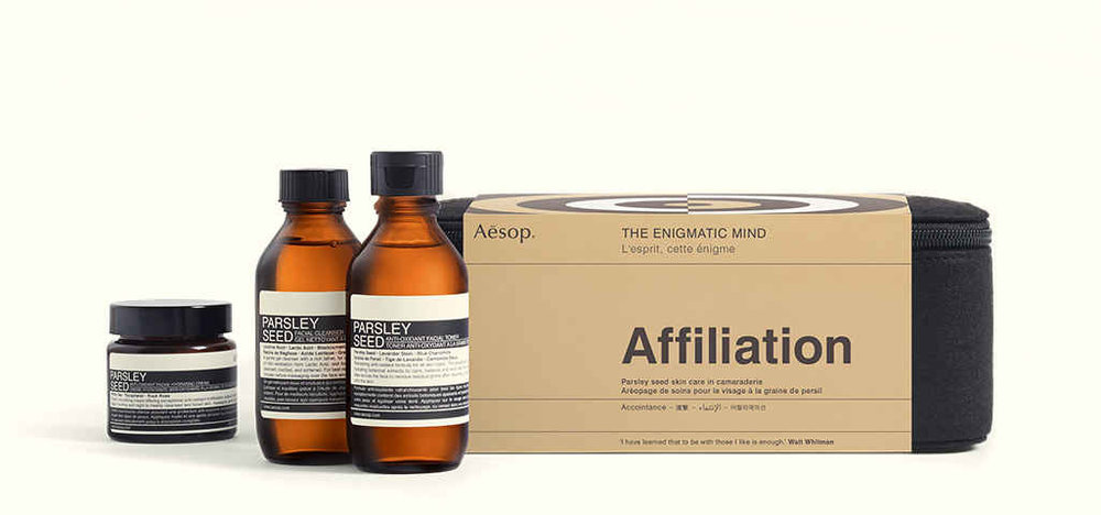 2. AESOP GIFT KIT: AFILLIATION - Gift kits are the ultimate holiday lifesavers in my book. They are luxurious and bespoke for the season — you can never go wrong.—$140