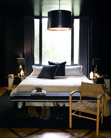 "2. Black Is a Neutral Too!  - Many people fall into the trap of associating the term ""neutrals"" with simply white and off-white, and assuming that an all neutral palette will just look like where beige went to die. It's important to remember that black (and grey) is a neutral too. Using a rich dark element in key areas will help to create much needed contrast against the lighter shades that you might be drawn to. Those darker tones will take a space to a new, moody dimension and add an insane level of sophistication. Even if you don't want to commit to painting an entire room or wall black, consider using black or charcoal grey for very specific pieces: a lighting fixture, a rug, or a set of pillows. You'll be amazed at how instantly the distinction will transform a room of white into a finished ""design"". Image from JBD Los Angeles Project by Douglas Friedman"