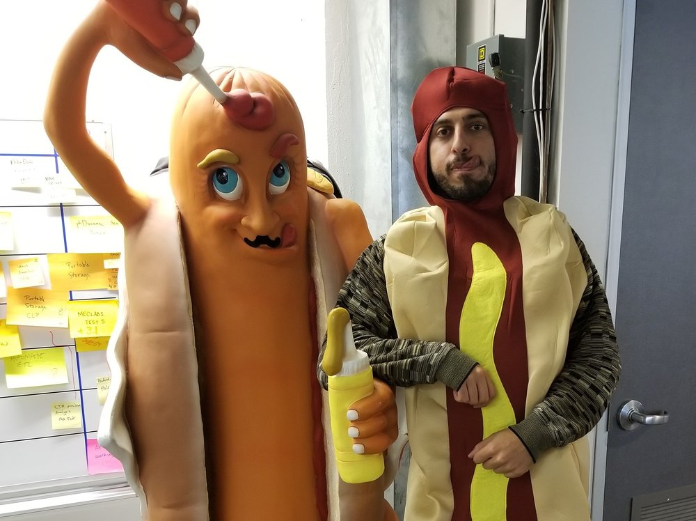 Goofy traditions   We're serious about storage (and moving), but we don't take ourselves too seriously. Halloween is a big deal at SpareFoot, and we even have a turkey costume that one lucky employee gets to wear on Thanksgiving. And then there's the ongoing hot-dog related prank battle....
