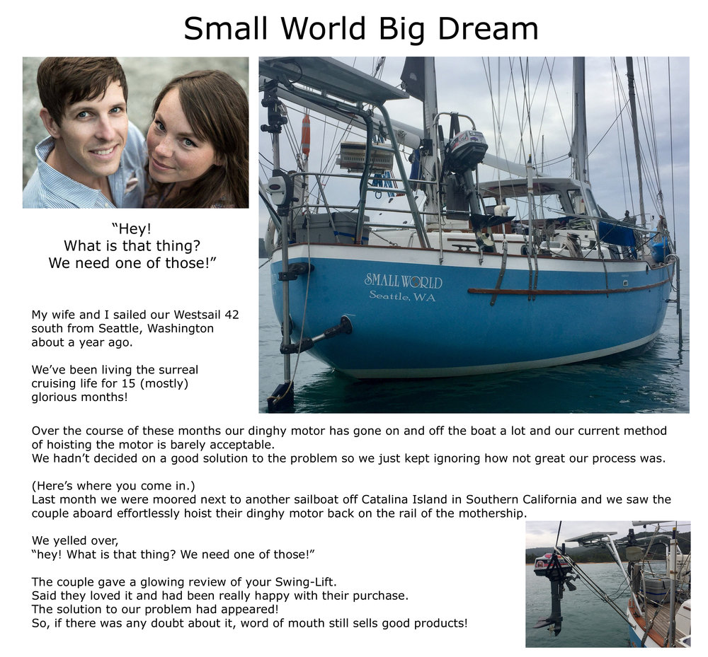 FOLLOW CRAIG AND KRYSTLE'S CRUISING ADVENTURES ON  KRAIGLESSMALLWORLD.COM