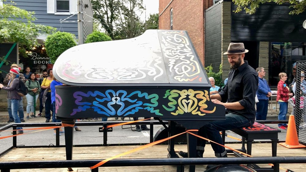 Pictured: Musician  Jesse Stacken  Spirit of Beacon Day Parade