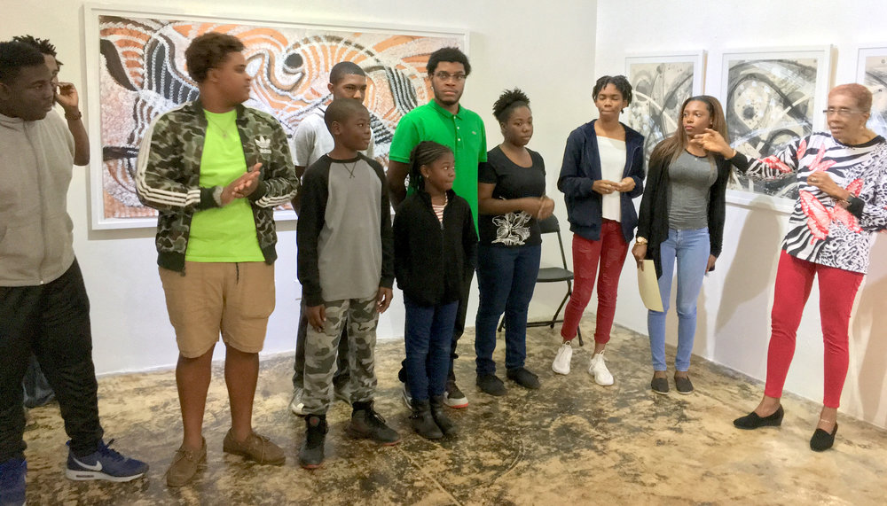 """Students of the TARA Xavier Hepburn Foundation take a bow after performing Patricia Glinton-Meicholas' work """"The Importance of Christmas Dinner"""" and """"The Boy, The Magic Drum and the Dancing Witch"""". (Right) Claire Hepburn, Co-Founder the TARA Xavier Hepburn Foundation."""