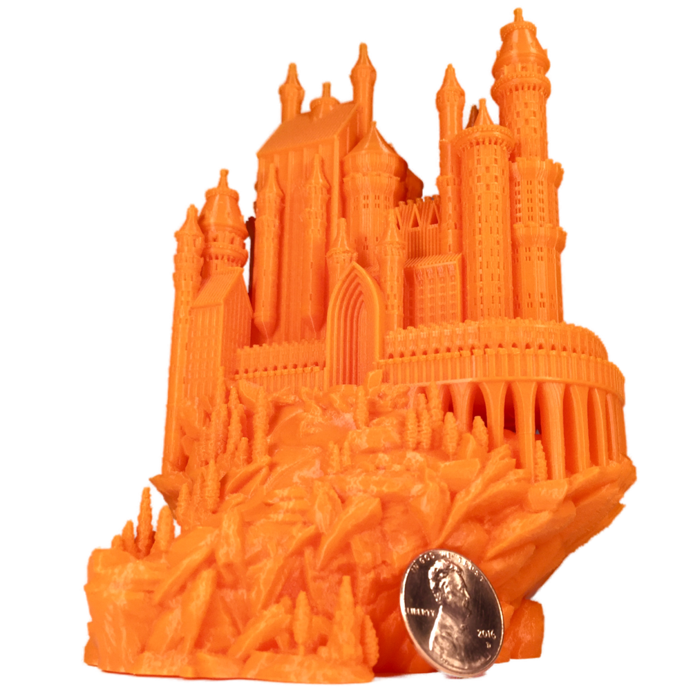 Bold Machines'  Medieval Castle  printed at 30% scale with the LM Nano 0.25mm Hotend
