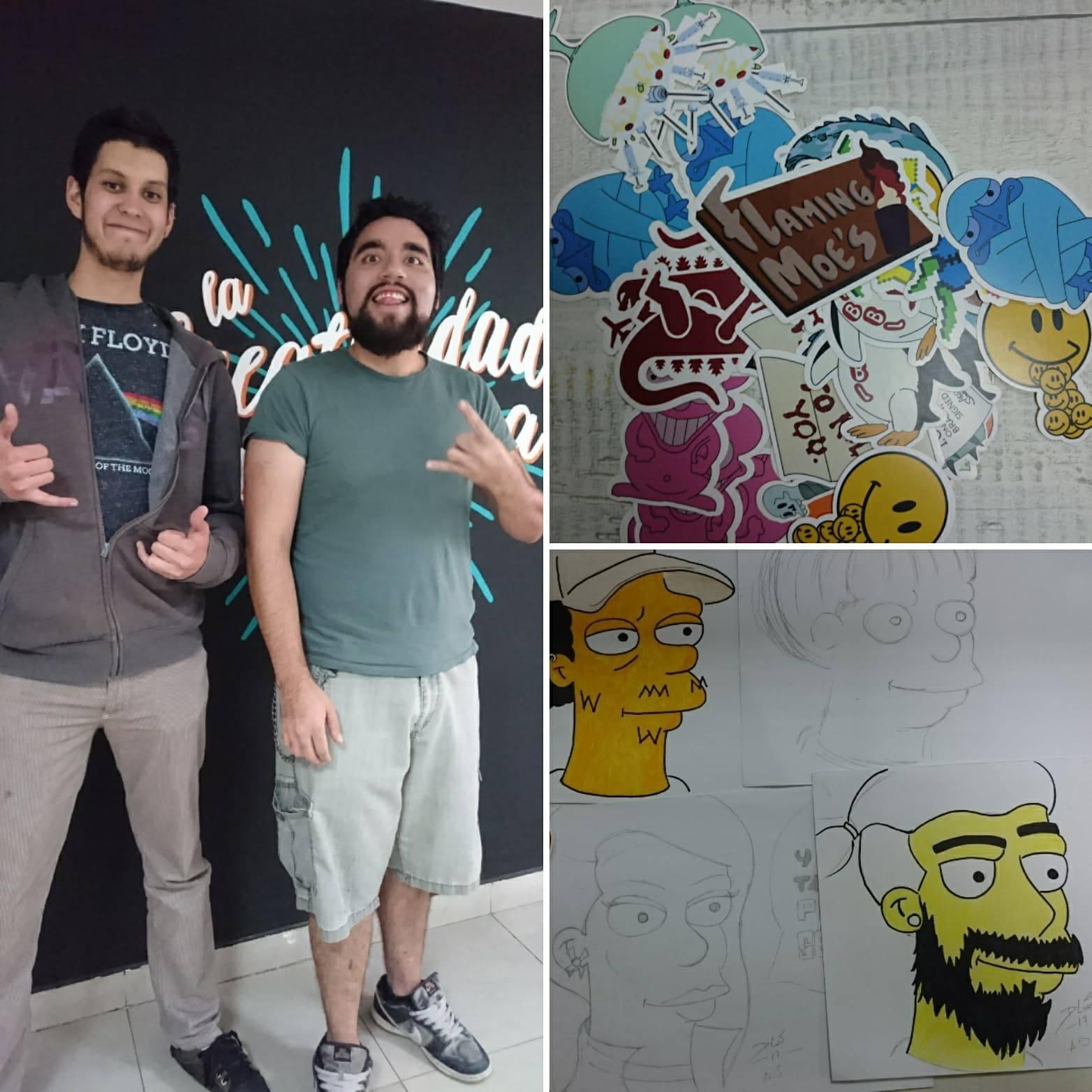 Los productos que ofrece Acción Simpsoniana son llaveros, stickers, lámparas y, lo más novedoso, es que te convierten en un personaje de Los Simpsons con sus retratos.